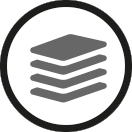 Size and stock management icon
